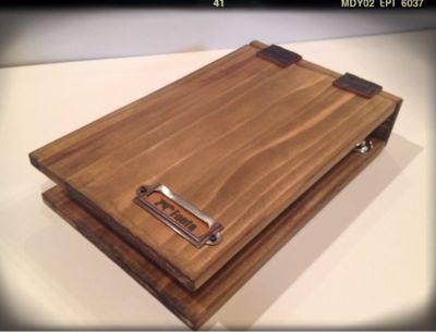 木製のメモホルダーとファイル : 手づくり雑貨『Fonte.』