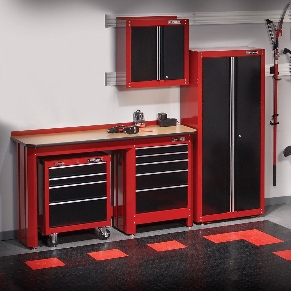crasftman work bench  New Craftsman Garage Storage Collection  The Garage Journal Board  Big