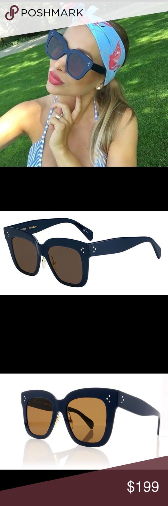 e59ae063dfac Celine Kim CL 41444 07G Navy Blue Sunglasses Brown Celine Kim CL 41444 07G Navy  Blue