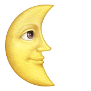 Last Quarter Moon With Face Moon Face Moon Emoji Emoji