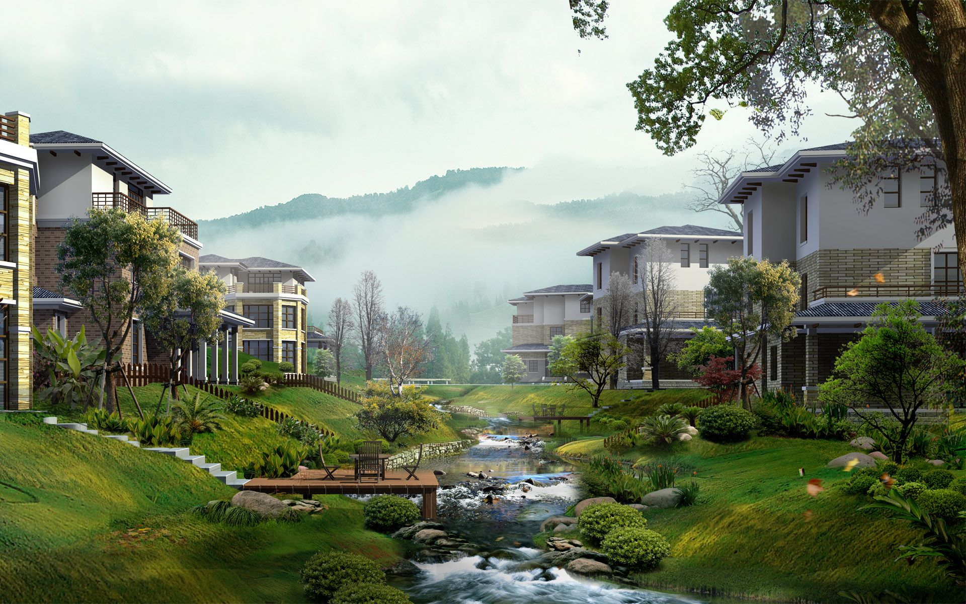 Beautiful Wallpaper For Home japan china digital landscape | villages-pictures & painting of