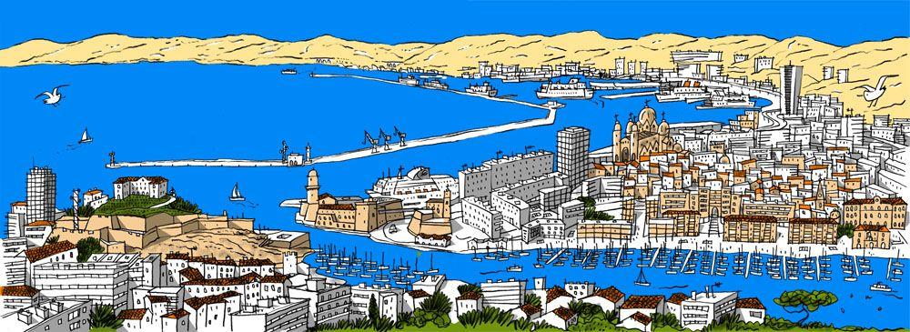 Philippe Doro Marseille Panorama Depuis Notre Dame De La