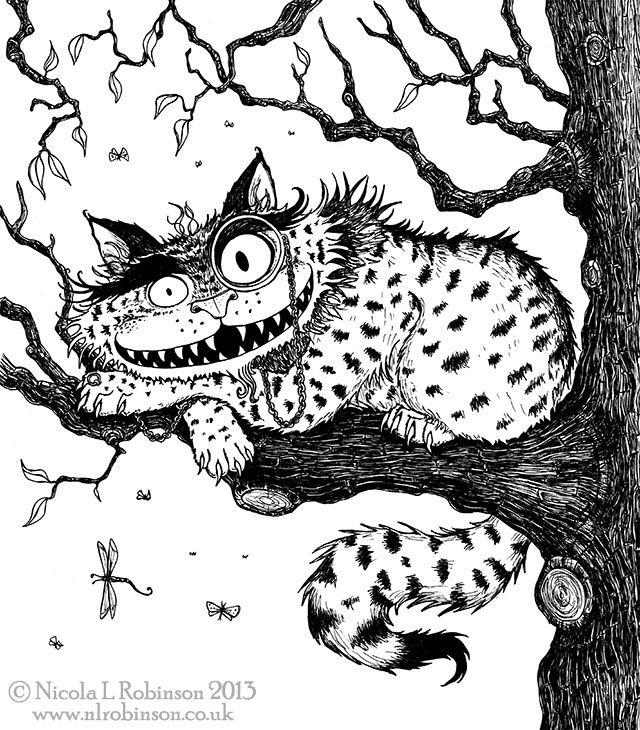 Nicola L Robinson pen and ink illustration for childrens books Alice ...