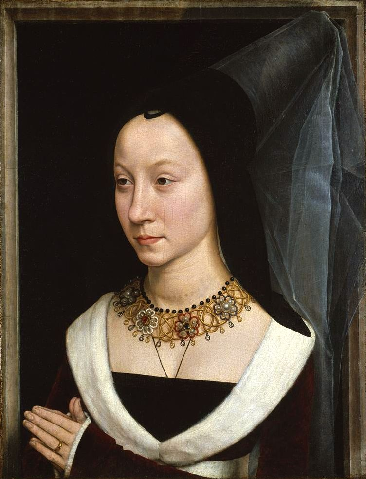 Hans Memling, Maria Portinari, c.1470    Hans Memling, Maria Portinari, c.1470 (via).
