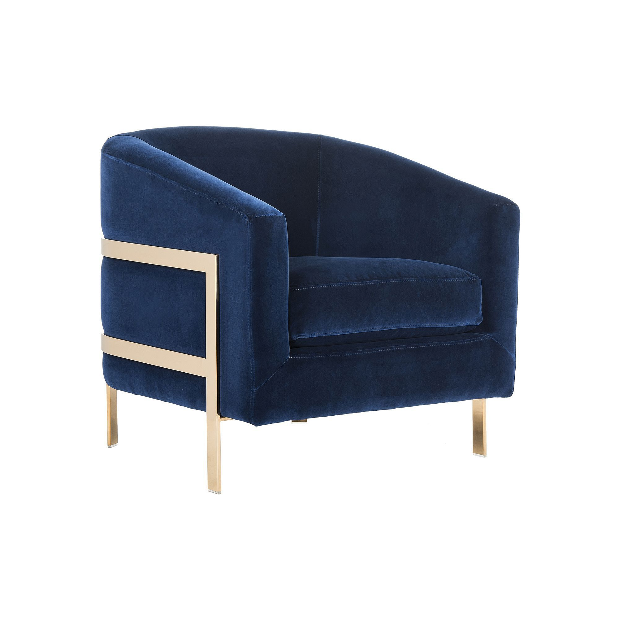 Safavieh Couture Navy Velvet Club Accent Chair In 2019 Products