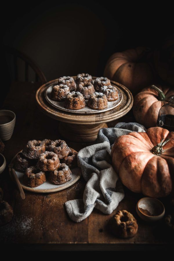 Pumpkin Chocolate Chip Mini Cakes (gluten & refine