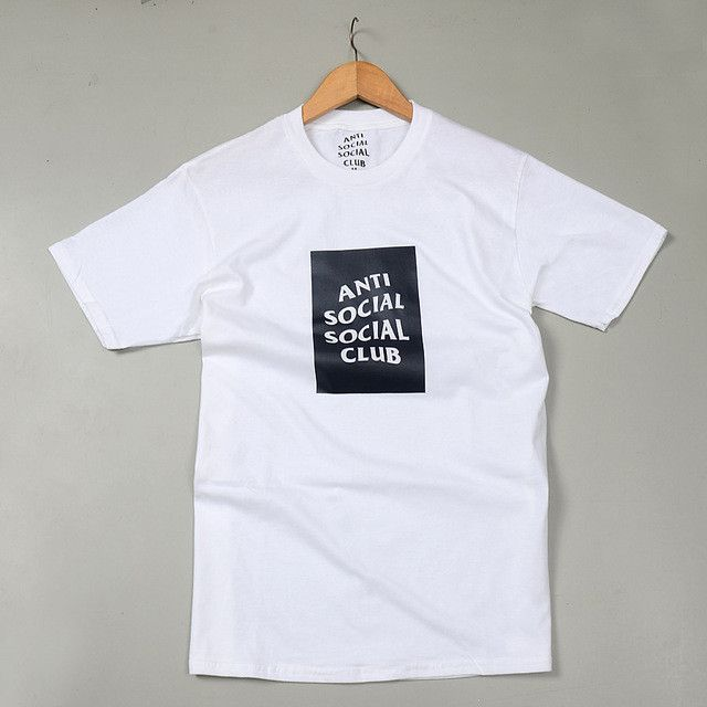 14f0f381dadf Men Women ANTI SOCIAL CLUB T Shirts KANYE WEST Clothes Hip Hop Streetwear  Cotton Casual