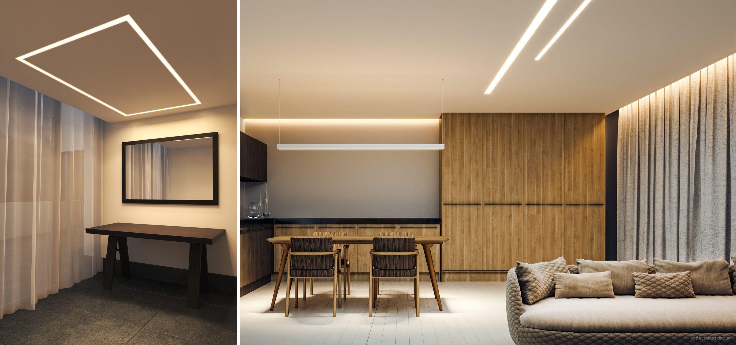 подвесной и встроенный линейный свет: Линейные светильники PROF F.65. Дизайнерские светодиодные светильники CENTRSVET | Для дома, Светильники, Пространства