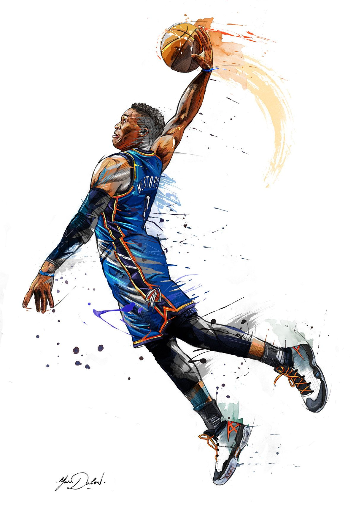 Russel Westbrook ~ No doubt one of the most passionate and fiercest  competitors in the NBA. Mix in his agility 5b5749f3c