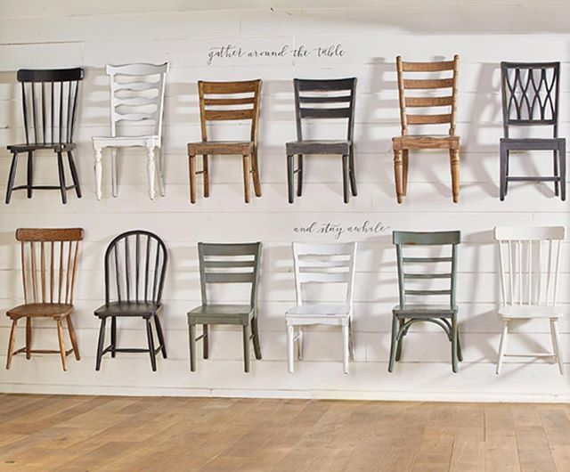 With a season full of entertaining right around the corner, we're dreaming about these chairs. We love the way Jo mixes and matches dining chairs to create a unique tablescape! Find a retailer near you through link in profile. #MagnoliaHomeFurniture #Gather