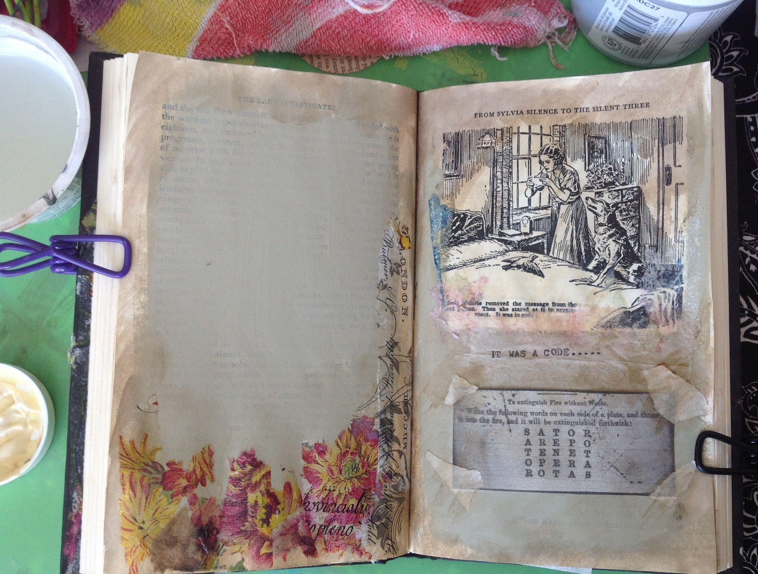 For the altered book Mystery theme.