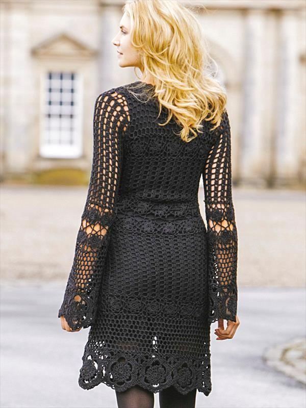 free-black-crochet-fashion-dress-3.jpg (600×800)