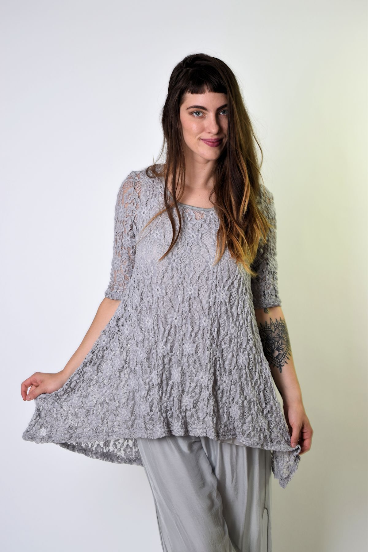 Surrealist Pucker Lace Tunic