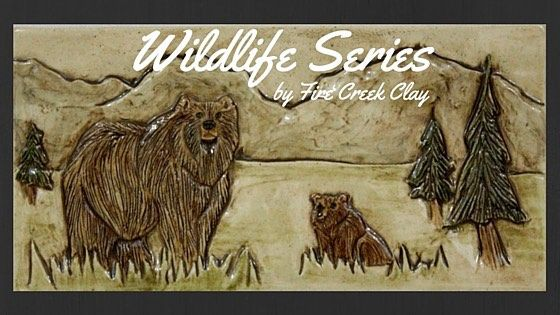 """Series of 4""""x8"""" tiles including fox prong horn bear beaver bison an owl and eagle. #handmadetile #wildlife #cabindecor #tileaddiction #firecreekclay by firecreekclay"""