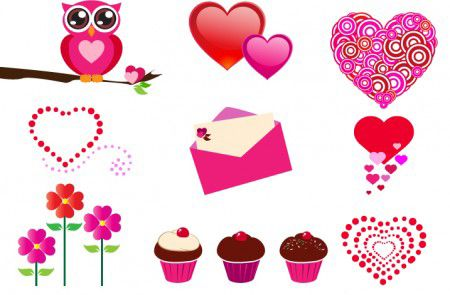 This Free Set Of Valentine S Day Icons Features An Owl A Love