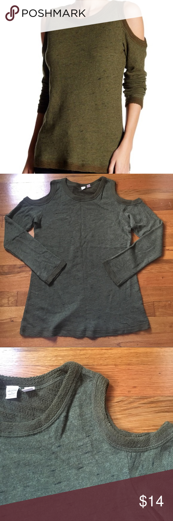 28e9748c0aa3a Melrose and market cold shoulder top Melrose and market (a Nordstrom brand) cold  shoulder top. SiZe medium. Great condition. Feel free to ask any questions  ...