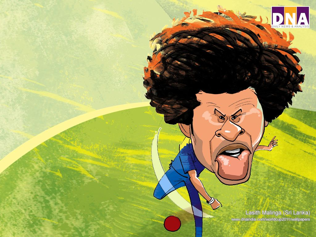 Lasith Malinga Caricature Cartoon Cricket