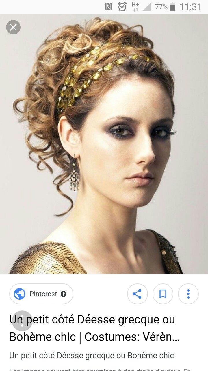 Épinglé par Laura Bourdeaux sur Coiffures maquillages grec   Coiffures grecques, Belle coiffure ...