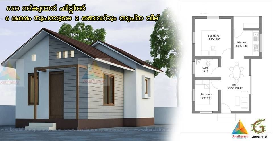 15 Home Designs Below 1000 Sqft In 4 To 15 Lakhs With Free Plan In 2020 Model House Plan House Design Low Budget House