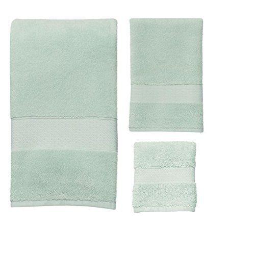 100% turkish cotton towel set mint green bath towels for home