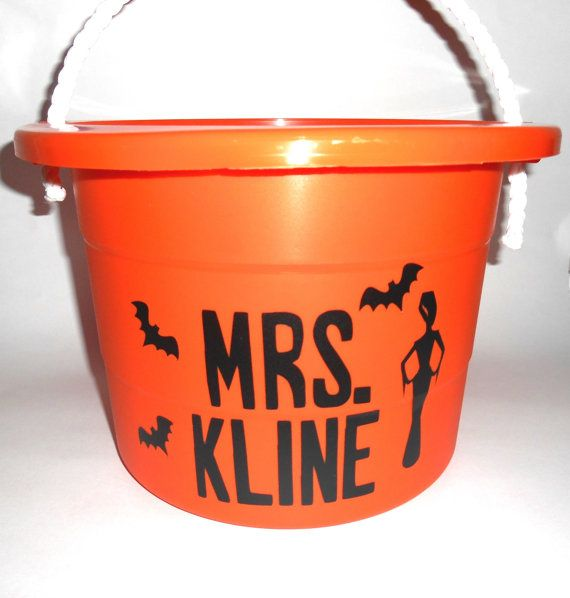 25 Gallon Personalized Plastic Halloween Tub by anniescraftcorner - lowes halloween