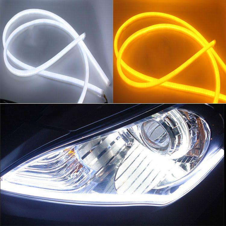 2pcs Lot 30cm Flexible Led Tube Strip White Car Styling Soft Daytime Running Light Drl Headlamp Universal Car Lights Y Car Lights Running Lights White Car