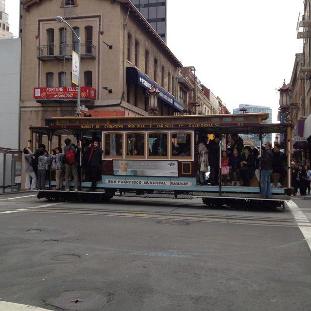 Trolley car by chinatown