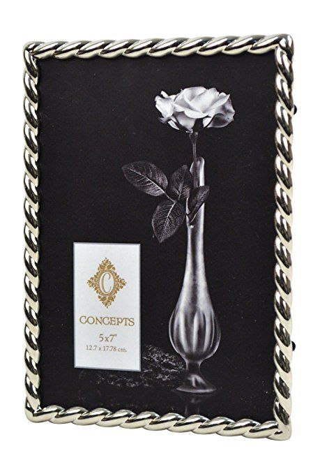 Concepts Metal Picture Frame With Silver Rope On Boarder 5x7 Metal Picture Frames Frame Metal Frame