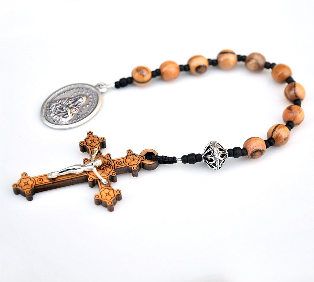 Olive wood confirmation communion gift for boys or men