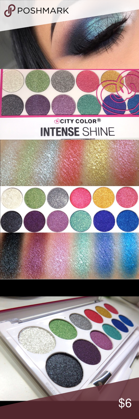 Intense Shine Eye Shadow Palette by City Color Boutique
