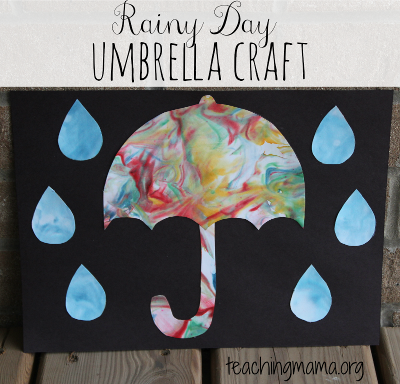 Easy Rainy Day Umbrella Craft For Young Children