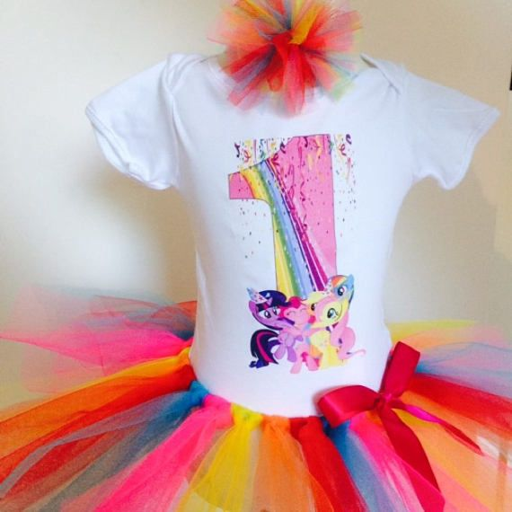 fcf413821 Personalised My Little Pony Birthday shirt and tutu set. Perfect for  birthday partys or photo shoots. ******* READ INFORMATION BEFORE PLACING A  ...