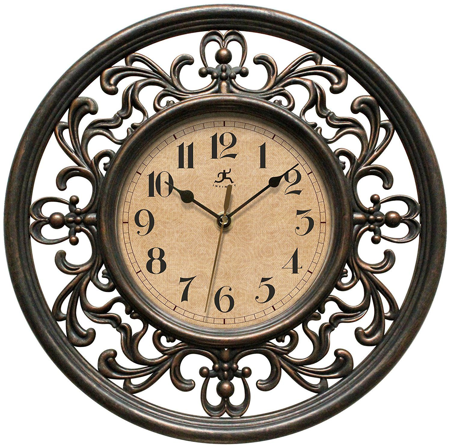 Infinity Instruments Sofia 12 Inch Silent Sweep Wall Clock Learn More By Visiting The Image Link Thi Wall Clock Traditional Wall Clocks Round Wall Clocks