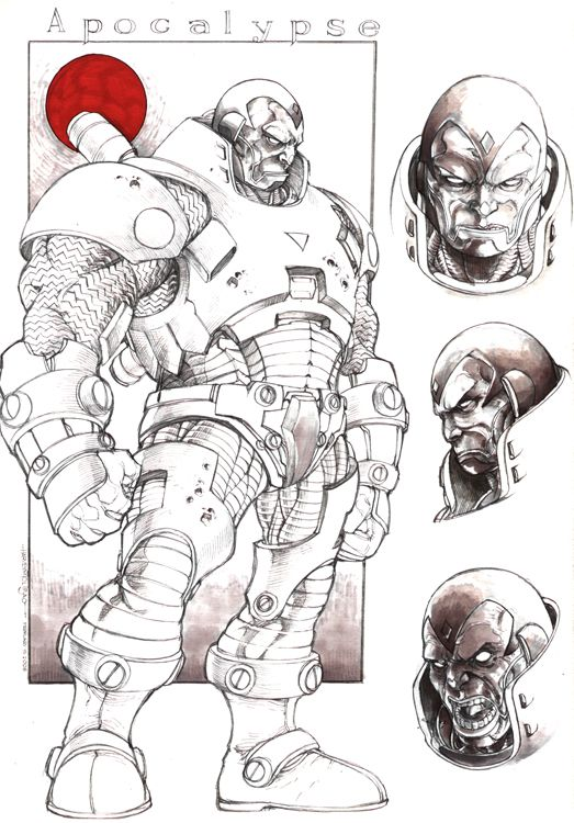 Ultimate Apocalypse By Harveytsketchbook Marvel Desenhos