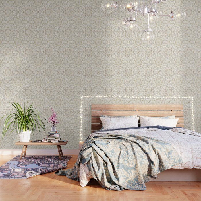 Boho Chic gold mandala design Wallpaper by inovarts – Products