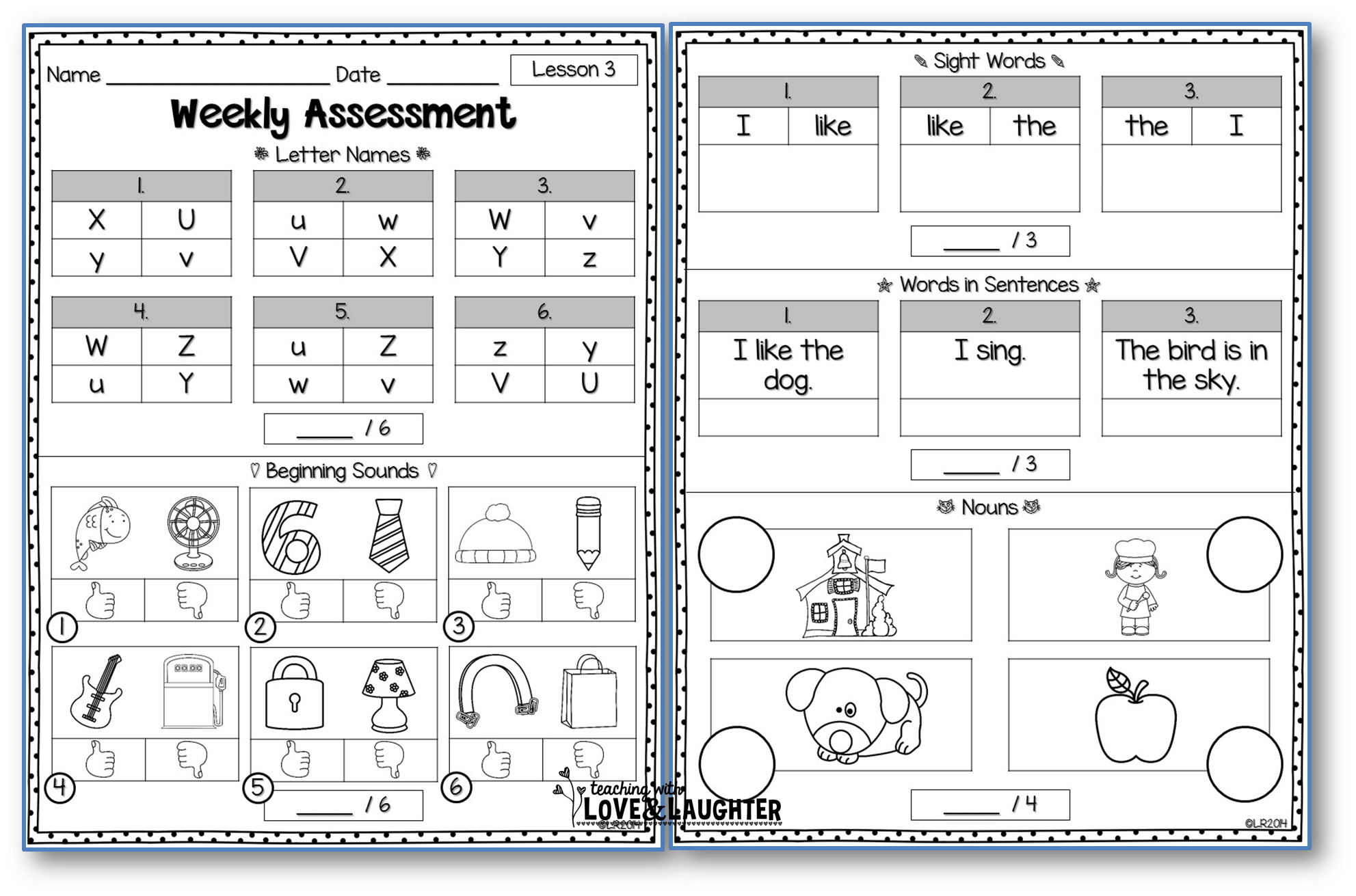 Weekly Assessments Unit 1 For Use With Kindergarten Journeys