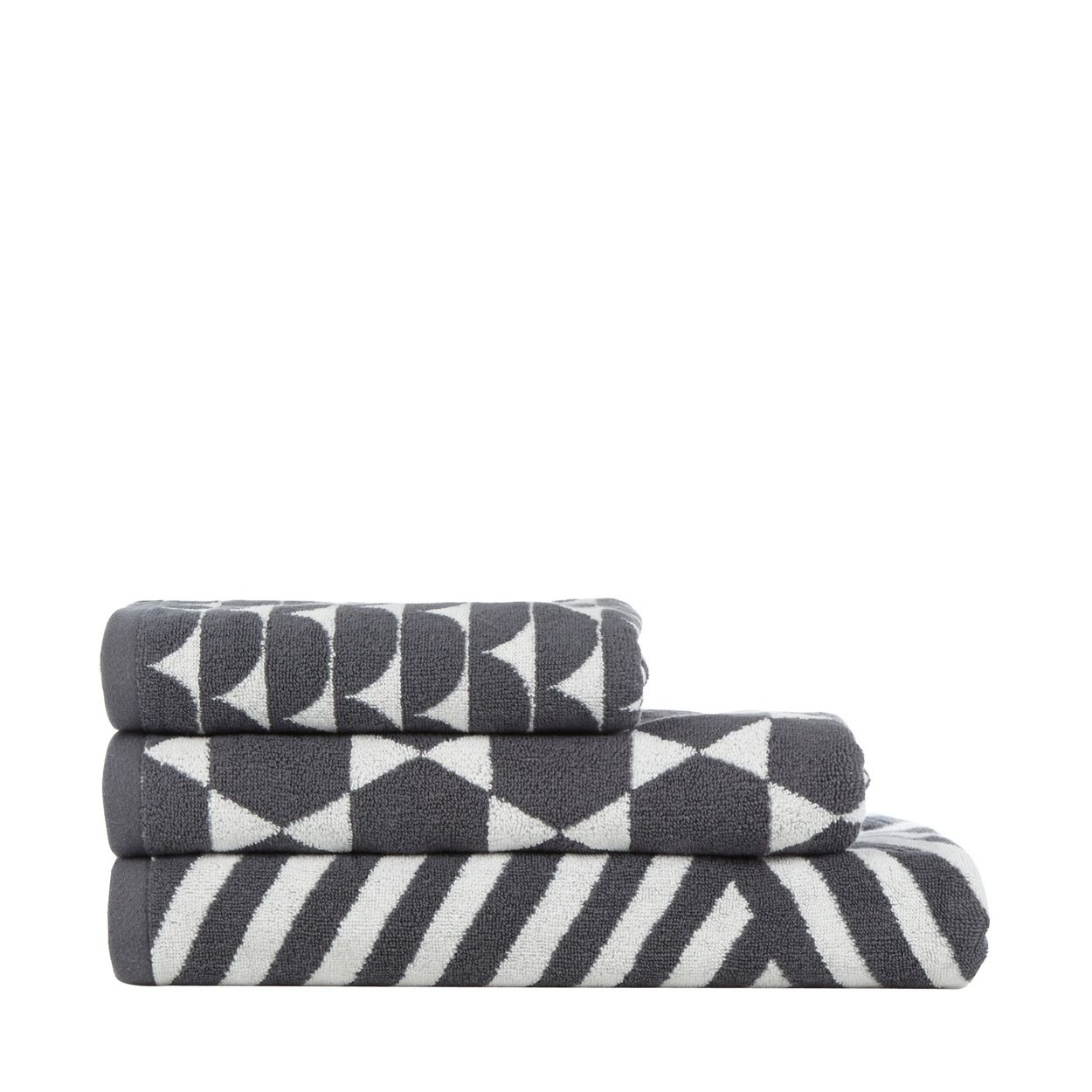 Ben De Lisi Home Grey Geo Cotton Towels At Debenhams Aw16