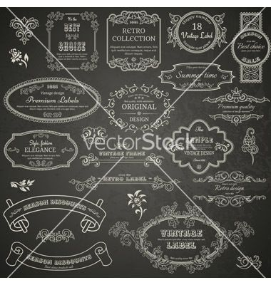 Vintage design elements vector 1566548 - by hoverfly on VectorStock®