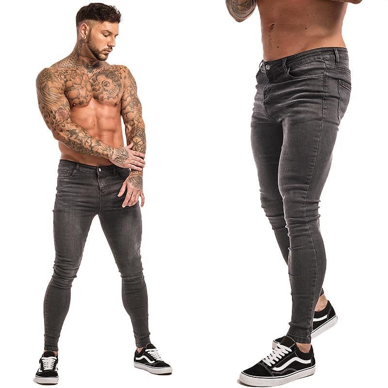 Herren Jeans Super Skinny Jeans Herren Non Ripped Stretch
