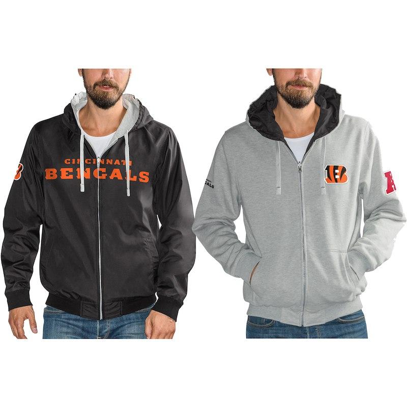 dd9f4f4f Cincinnati Bengals G-III Sports by Carl Banks Reversible Hooded Full ...