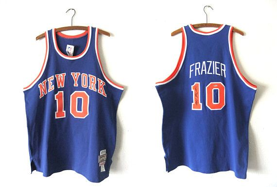 newest c3746 f13ef Walt Clyde Frazier New York Knicks Jersey - Throwback NBA ...