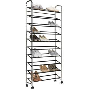 10 Shelf Rolling Shoe Rack At Argos Co Uk Visit