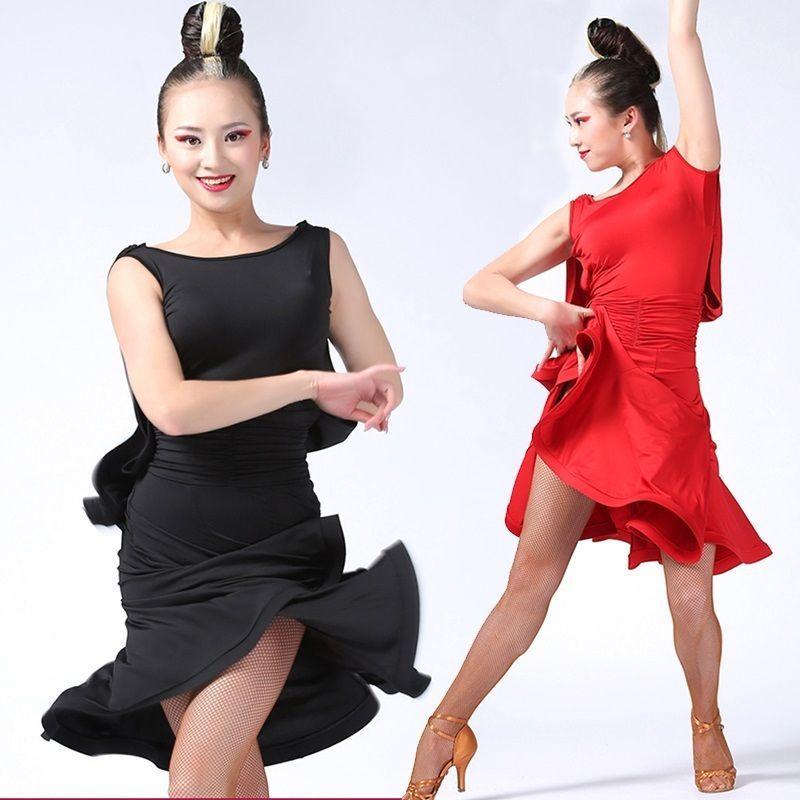 63d34bf78 New Adult Cha Cha Latin Dance Dress Backless Rumba Samba Women's ...