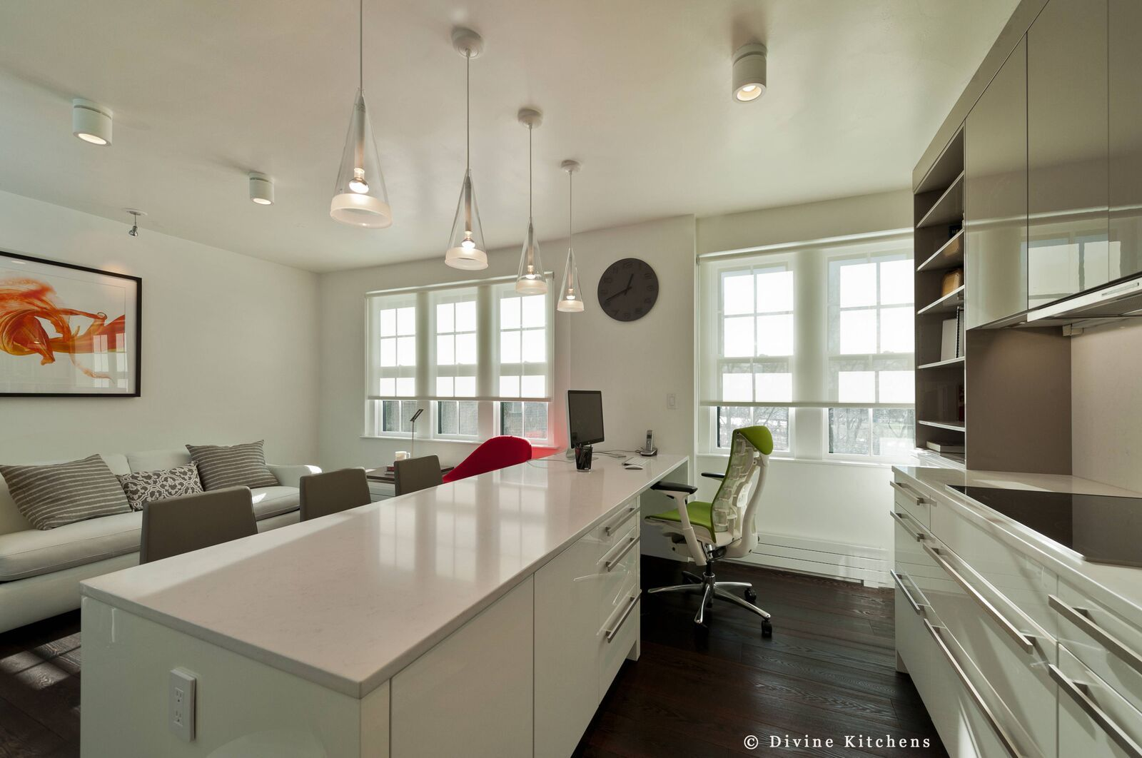 Kitchen Designers Boston Multiuse Space A Kitchen And Office Space In One #smallspace