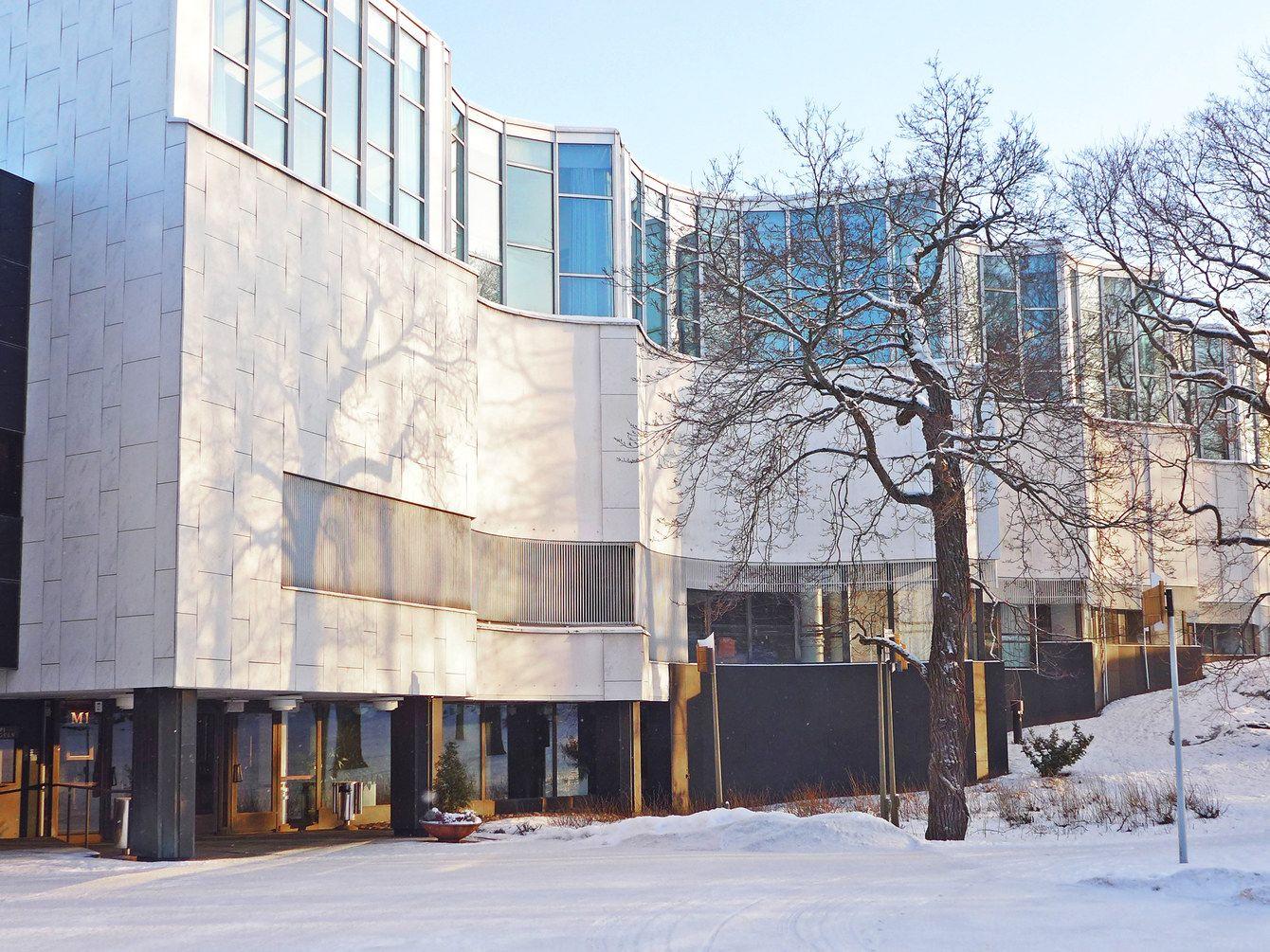 Aalto's Finlandia Hall.