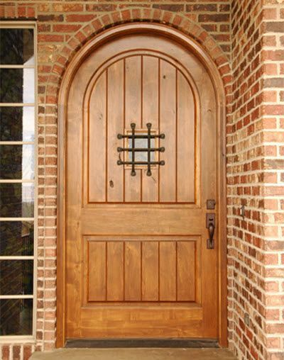 Knotty alder front door with speakeasy window | UberDoors & Knotty alder front door with speakeasy window | UberDoors | Front ...