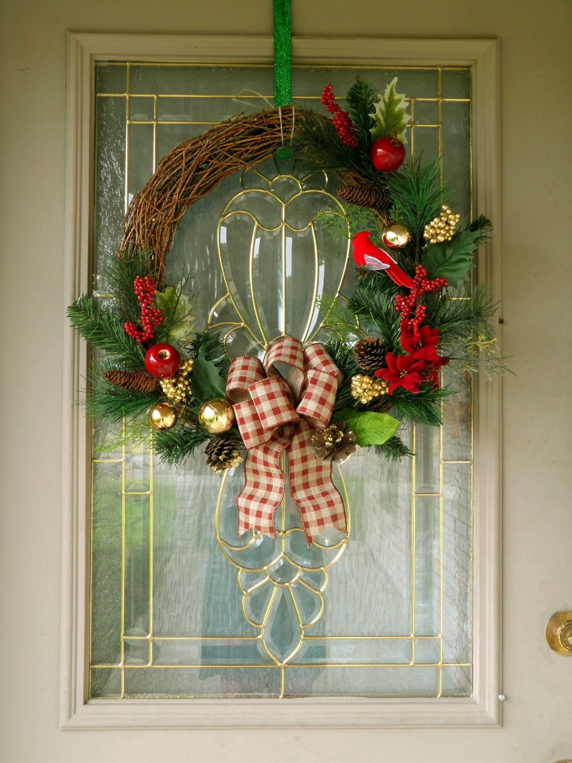 Grapevine Christmas Wreath, Woodland Christmas Decor
