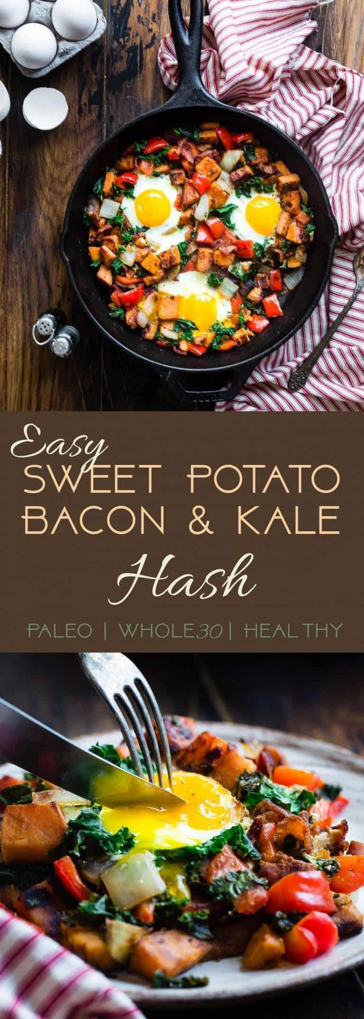 Breakfast Hash with Squash, Kale and Peppers {GF} - Food Faith Fitness - #breakfast #faith #fitness...
