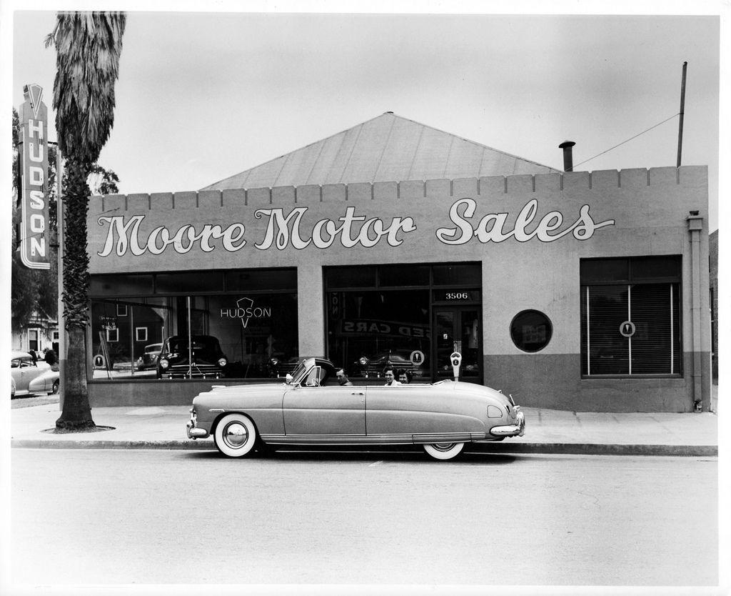 1950 Moore Motor Sales, Hudson Dealership, Riverside