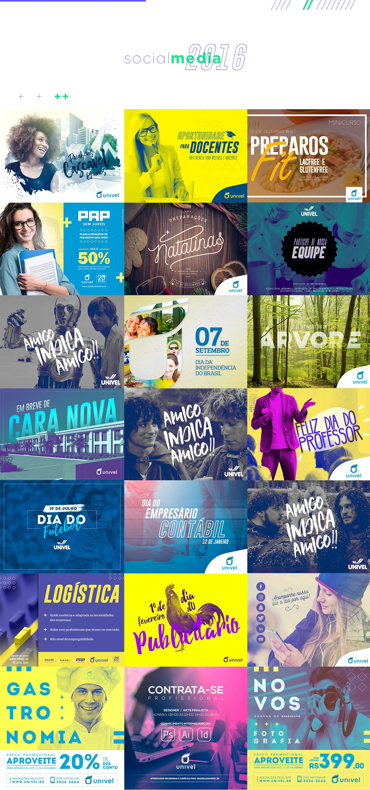Social Media 2016 - Univel on Behance